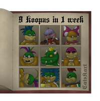 KOOPA WEEK 2017 - 9 koopas in 1 week by catskart
