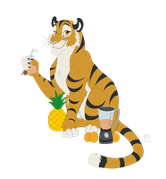 Smoothie Tiger  by WindWo1f