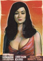 Blood from the Mummy's Tomb Sketch Card 2 by westleyjsmith