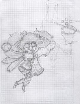 Angie about to slam dunk_sketch by JoakeenTheBagel