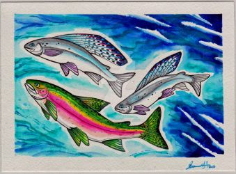 Grayling over the Rainbow by MitziMonster