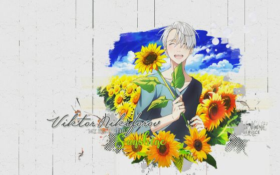Wallpaper Viktor Nikiforov Sunflower by lady-alucard