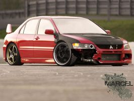 Lancer EVO IX Time Attack by degraafm