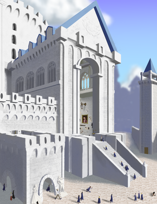 Ilvermorny Entrance (so far) by QuesoGr7