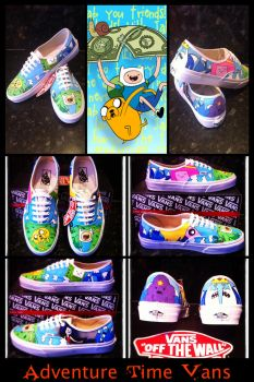 Adventure Time Vans Collage by VeryBadThing