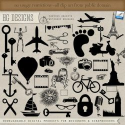 PS Brushes: Objects by HGGraphicDesigns