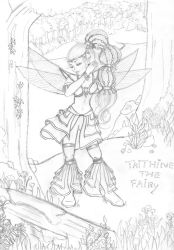 Sketch - Taithine the Fairy by Paola-Tosca