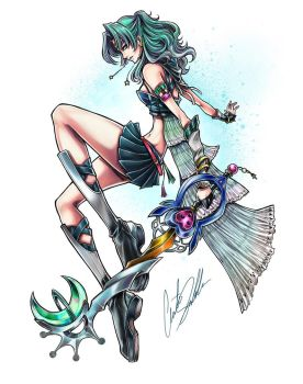 Sailor Neptune Keyblade Master by ShadowMaster23