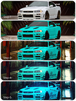 5 step build of Nissan-skyline-gtr-r34 by Net-Zone-Network