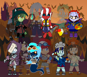 Altered Chibis Halloween - Spooky Scary Times by Dragon-FangX