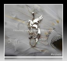 'An other Dreamworld'  sterling silver pendant by seralune