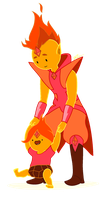 Flame Prince and baby Flame Princess by ScienceNMagic