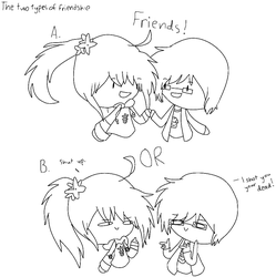 2 Types of Friendship Collab by anilovespeace