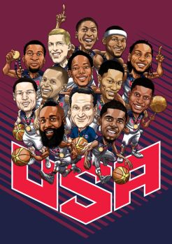 USA Basketball Gold Medal Team 2014 by MBorkowski