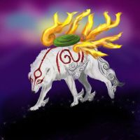 Okami Sunset by flamepointiger