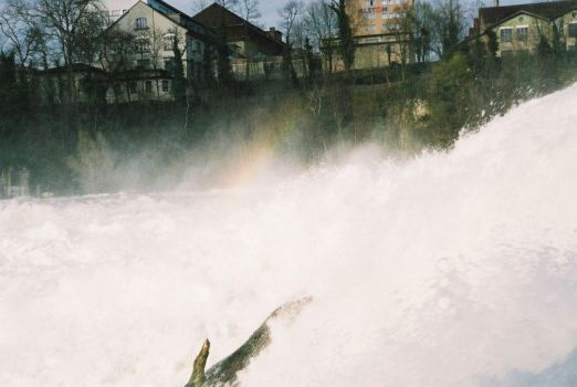 Rainbow at Rheinfall by inatheblue