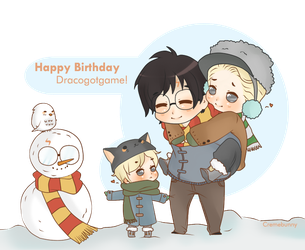Little Family - HBD Dracogotgame! by Cremebunny