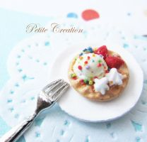 ice cream + waffle bobby pins2 by PetiteCreation