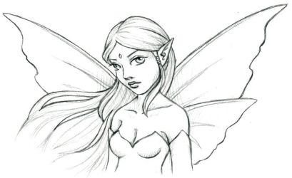 fairy sketch by jefita
