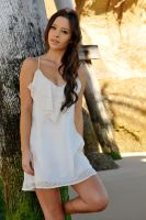 Annali - white dress on beach 1 by wildplaces