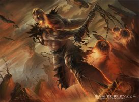 MTG: Inferno Titan by samburley