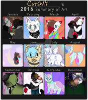 ART SUMMARY 16 by catshlt