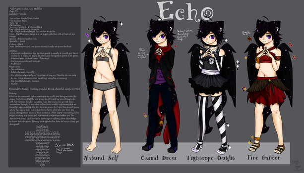 Echo Reference sheet by SweetCatMint