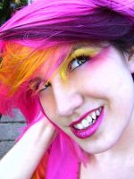 Pink, Yellow, Purple Hair 2 by littlehippy