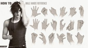 HOW TO: Male Hands Reference by Valentina-Remenar