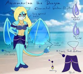 Ref: Aquamarina the Dragon by LadySeleneSilva