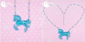 Dreamy carousel horse Necklace 4 by CuteMoonbunny