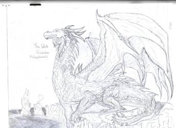 Dragon:Hobsyllwindel The White by DeviantDemyx
