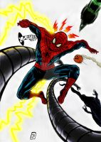 Spider-man vs sinister six by nic011