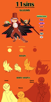 11sins - Species Guide by red-Limbo