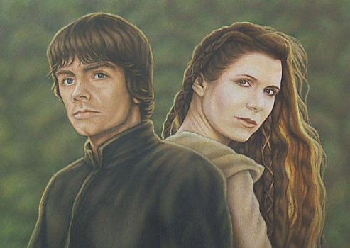 Luke and Leia by mjmjedi