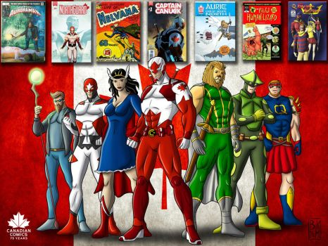 Canadian Independent Superheroes by artBKM
