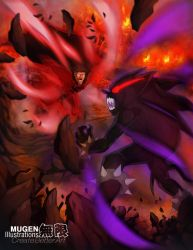 Commission by MugenIllustrations: Diablo vs CN by luke-crowe