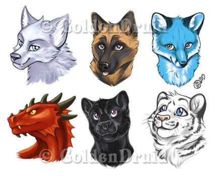 Pre-made Badges Set 3 by GoldenDruid