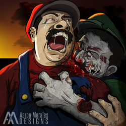 Super Mario Zombies by smthcrim89
