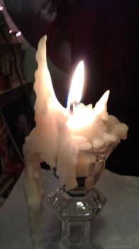 Crescent Moon Candle by XamorahLunaris