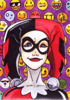SketchCard: Harley Quinn_3 by Axigan