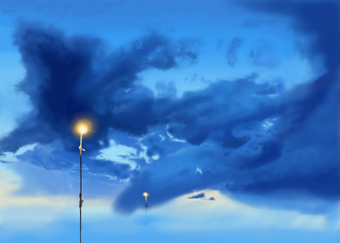 Blue Clouds by HoubleDelix