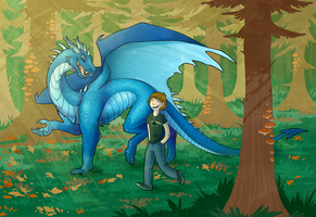 Forest Walk [Comm] by Lucieniibi