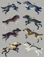 (CLOSED) Wolf Adoptables by maccarta