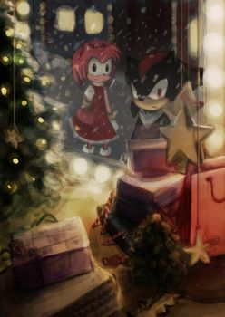 Sonic TH: Shadow and Amy by shadow-of-myself