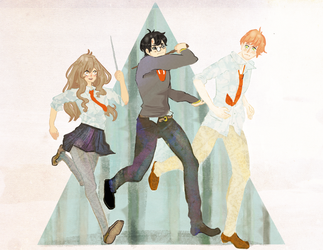 Golden Trio by Usoly