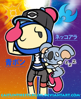 Bomberman x Pokemon: Blue Bomber and Komala