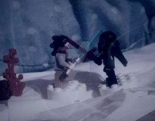 Rey and Kylo Ren Fight- Lego Still Life by BeanieIsAwesome