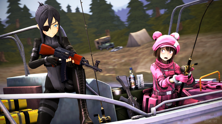 Bring Your Gun to Fishing Day by FosterBonnie