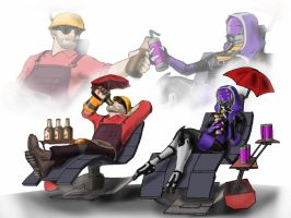 Mass Fortress Meet the engineer by spaceMAXmarine